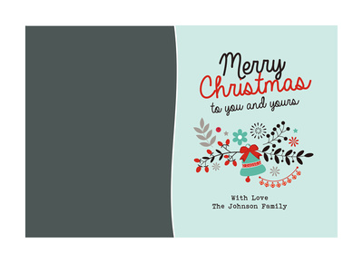 Merry Christmas Blue, Three Image, Side A
