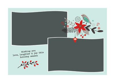 Merry Christmas Blue, Three Image, Side B