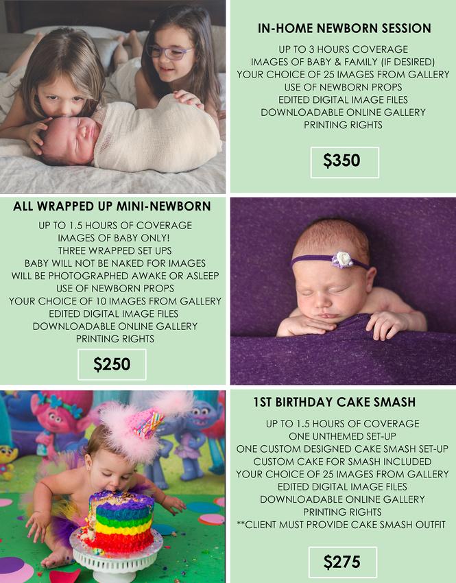 BABY PLAN PRICING 2018 SHEET 2