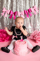 Harper 1 year cake smash